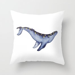 Magical Humpback Whale Throw Pillow