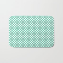 Opal and White Polka Dots Bath Mat