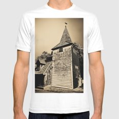Greensted Church Art SMALL White Mens Fitted Tee
