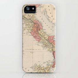 Vintage Map of Italy (1883) iPhone Case