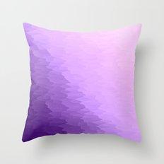 Lavender Texture Ombre Throw Pillow