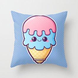 Kawaii Ice-Cream Throw Pillow
