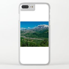 Landscape Mt. St. Helens in Summertime Clear iPhone Case
