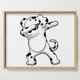 Dabbing Dalmatian T Shirt Funny Dab Dog Serving Tray