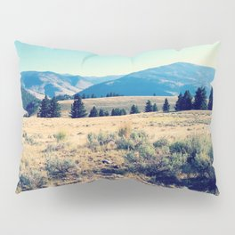 The High Plains of Lamar Valley: Yellowstone National Park Pillow Sham