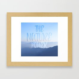 The nature power hill Framed Art Print