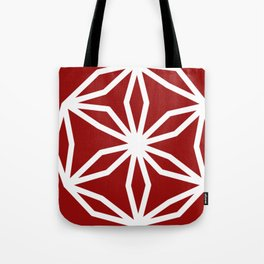 CUBIC FLOWER PATTERN - red Tote Bag