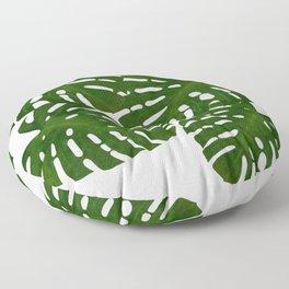 Monstera Leaf I Floor Pillow