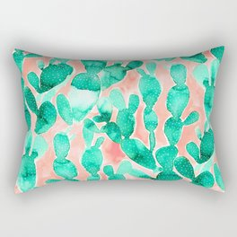Paddle Cactus Blush Rectangular Pillow