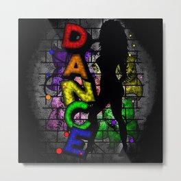 Graffiti Dance Metal Print