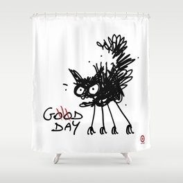 CAT, good day Shower Curtain