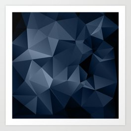 Black and blue polygonal pattern . Art Print