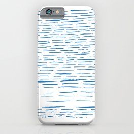 Blue Ink Strokes iPhone Case