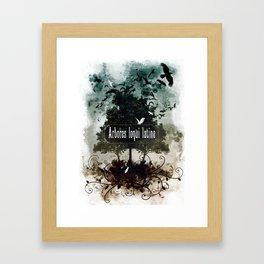 arbores loqui latine Framed Art Print