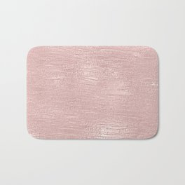 Metallic Rose Gold Blush Bath Mat