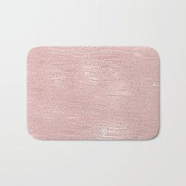 Metallic Rose Gold Blush Bath Mat