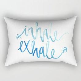 Inhale. Exhale. Rectangular Pillow