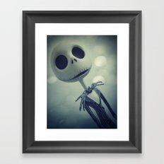 Mr. Jack (Nightmare Before Christmas) Framed Art Print