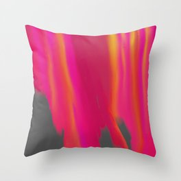Vibrant Melted Pink Throw Pillow
