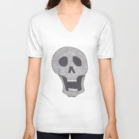 celtic V-neck T-shirts featuring Celtic Skull by ronnie mcneil