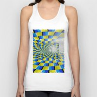 holographic Tank Tops featuring Radial Structure by Anya Campbell by BohemianBound