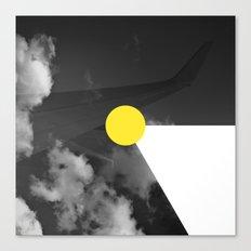 Night Flight Yellow Canvas Print