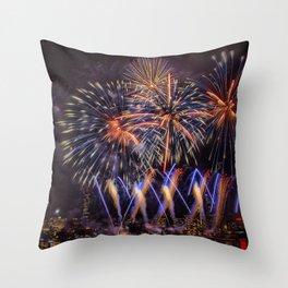 Blue Stars. Boston Pops Fireworks. Throw Pillow