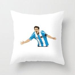 Leo Messi Throw Pillow