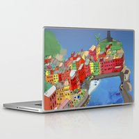 paper towns Laptop & iPad Skins featuring Towns of Italy by Louise Griffiths