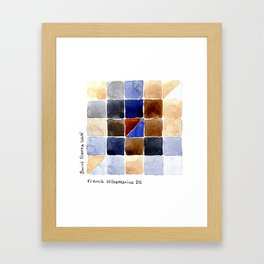 Color Chart - Burnt Sienna (W&N) and French Ultramarine (DS) Framed Art Print