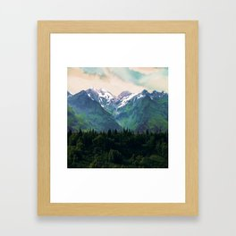 Escaping from woodland heights I Framed Art Print