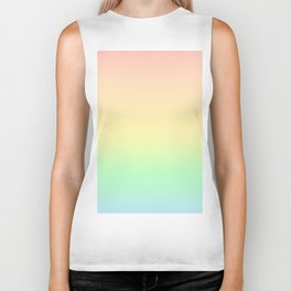 Pastel Rainbow Pattern Biker Tank