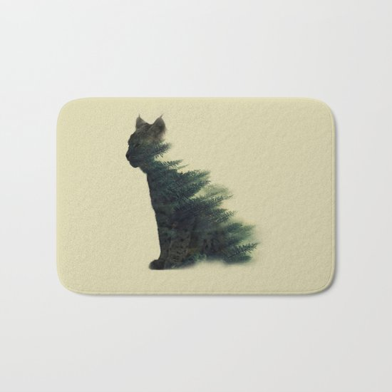 Animal in forest Bath Mat
