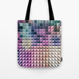 abstract volumetric geometric background with peak Tote Bag