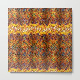 Multicolored wavy lines background Metal Print