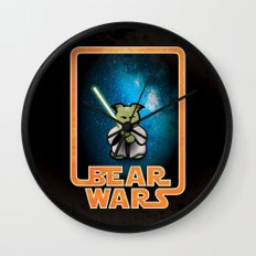 Bear Wars - the Wise One Wall Clock