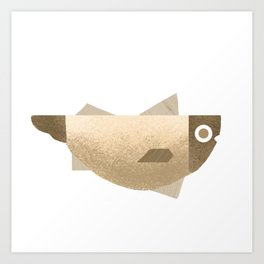 Beige fish Art Print