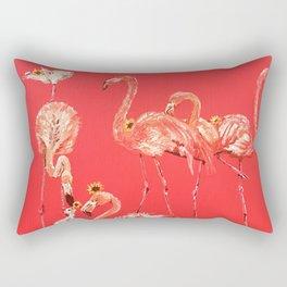 Sunning Flamingos Rectangular Pillow