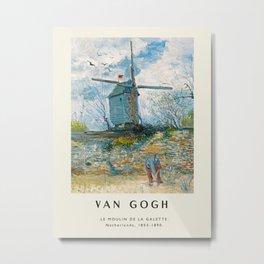 Poster-Van Gogh-Le Moulin de la Galette. Metal Print