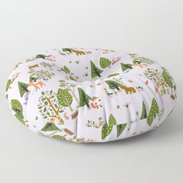Sweet Woodland Animals Floor Pillow