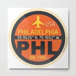 Philadelphia PHL mode x Metal Print