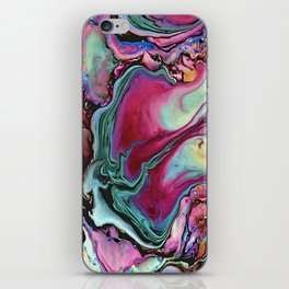 Colorful abstract marbling iPhone Skin
