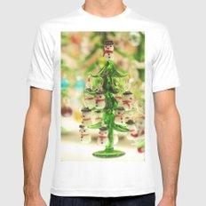 Snowmen Christmas trees White MEDIUM Mens Fitted Tee