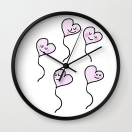 Cute hearts in valentine's day Wall Clock