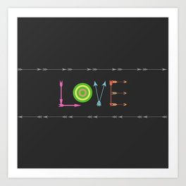 Arrow Love Art Print