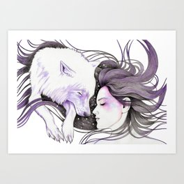 Sleep Like Woves Art Print