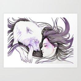 Sleep Like Woves Art Print