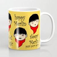 merlin Mugs featuring Soft Merlin, Warm Merlin... by sirwatson