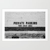 Dunedin Parking Lot Art Print