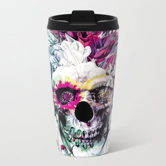 Skull Punk IV Metal Travel Mug